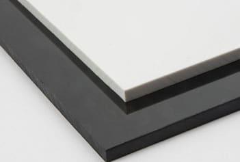 Płyty HIPS - Białe czarne